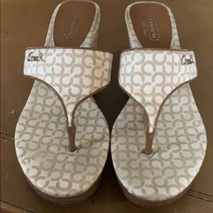 Coach wedge thongs size 6.5
